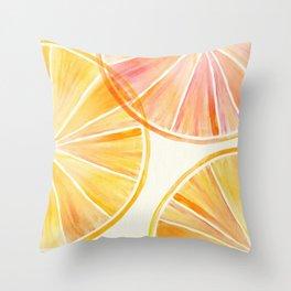 Sunny Citrus Throw Pillow