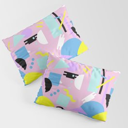 Postmodern Sea ll in Pastel 80's Pillow Sham