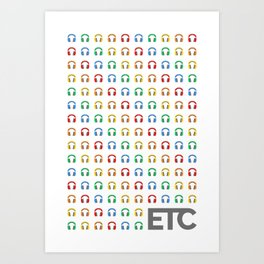 ETC Kid Sub Badge Rainbow Art Print