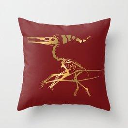 Scelet of the Christmas dragon Throw Pillow