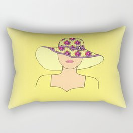 Portrait Of Fashion Rectangular Pillow
