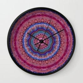 Colorful Agate Mandala Wall Clock