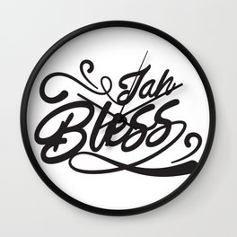 jah bless lettering  Wall Clock