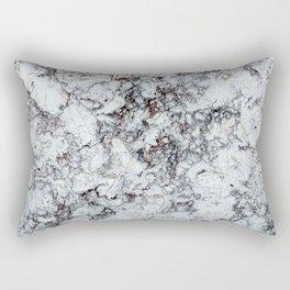 Grey Marble Natural Texture Rectangular Pillow