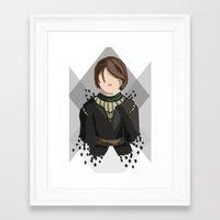 arya stark Framed Art Prints featuring Arya Stark by itsamoose
