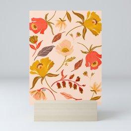 CORAL FLORAL Mini Art Print