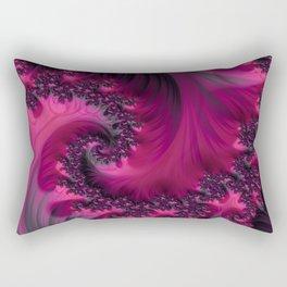 Twisting Dark Raspberry Ripple Rectangular Pillow