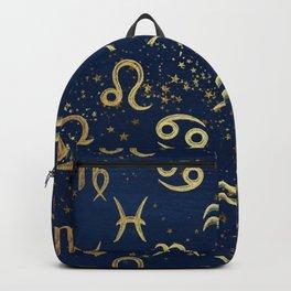Twelve Zodiac Signs Horoscope Pattern Backpack