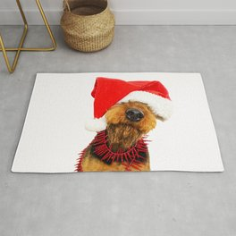 Airedale Terrier Christmas Photography Rug