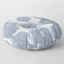 Shibori Wabi Sabi Indigo Blue on Lunar Gray Floor Pillow