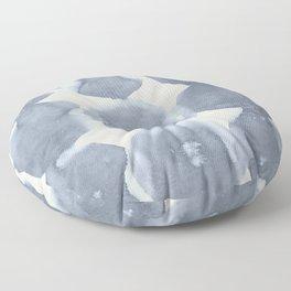 Shibori Wabi Sabi Indigo Blue on Lunar Gray Floor Pillow