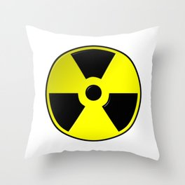 Nuclear Symbol Throw Pillow