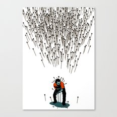 Stop Wasting Arrows And Aim For Its Head, You Damn Fools! V2 Canvas Print