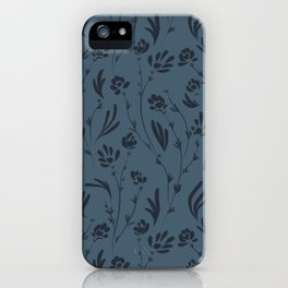 Wild Cosmos, Denim Blue iPhone Case