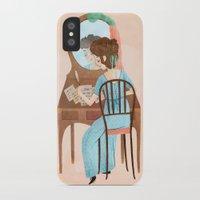 jane austen iPhone & iPod Cases featuring Jane Austen by Irena Freitas
