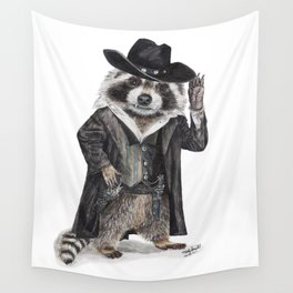 Raccoon Bandit Wall Tapestry