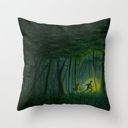 Throughout the woods... Throw Pillow