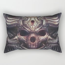 BioMech-HellSkull Rectangular Pillow