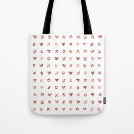 XOXO Love Me Rose Gold Pattern Tote Bag