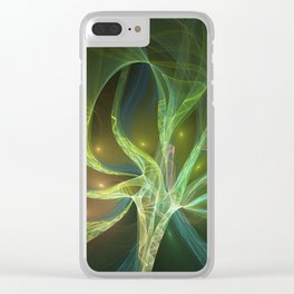 Delicate And Luminous Fractals Art Clear iPhone Case