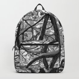 Snowy Cedar - Black & White Backpack