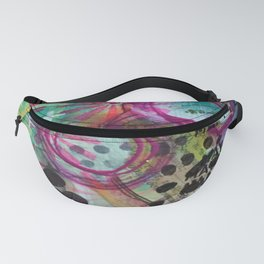 Shine On Teal Fanny Pack