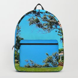 Gazebo and Leaning Tree Backpack