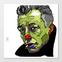 camus Canvas Prints featuring A. Camus by philip painter