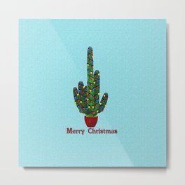 Southwest Christmas Tree Metal Print