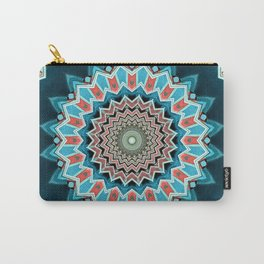Blue And Turquoise Pattern Carry-All Pouch