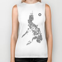 philippines Biker Tanks featuring Paranormal Philippines (white) by Rev Cruz