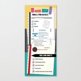 DBQ/FRQ Info Canvas Print