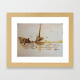 Coming Into Harbor Framed Art Print