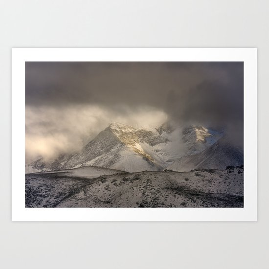 the mountain speaks to me Art Print