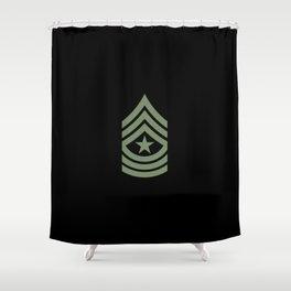 Sergeant Major (Green) Shower Curtain