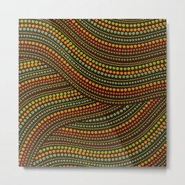 Dot Art Aboriginal Art #1 Metal Print