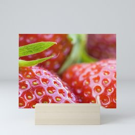 Fresh strawberries Mini Art Print