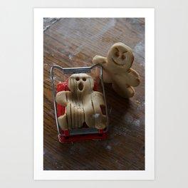 Attack of the Gingerbread man II Art Print