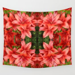 """""""A Gathering of Lilies"""" Remix - 5 (1-1) [D4471~15] Wall Tapestry"""