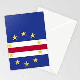 Cape Verde flag emblem Stationery Cards