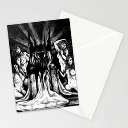 Evil King on Throne Stationery Cards