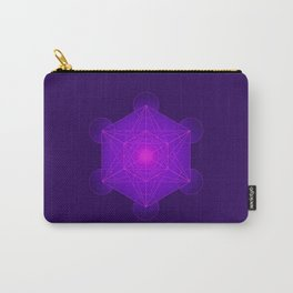 Metatron | Cube | Secret Geometry | Platonic | Matrix | Protects children Carry-All Pouch