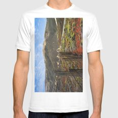 Big Sur Mountains MEDIUM Mens Fitted Tee White