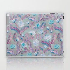 Soft Smudgy Blue and Purple Floral Pattern Laptop & iPad Skin