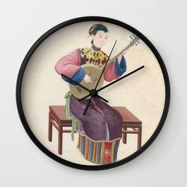 Musician playing ruan Wall Clock