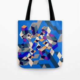 Blue collage Tote Bag