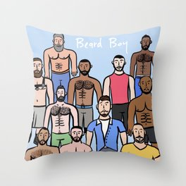 Beard Boys: Boys just wanna have fun! Throw Pillow