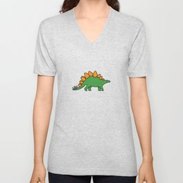 Cute Stegosaurus Unisex V-Neck