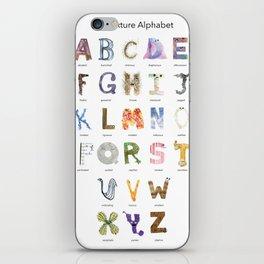 Texture Alphabet iPhone Skin