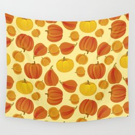 Pumpkins. Thanksgiving day. Wall Tapestry